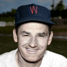 "Floyd Baker - - c. 1952-53 Washington Senators 4""x6"" colorized print"