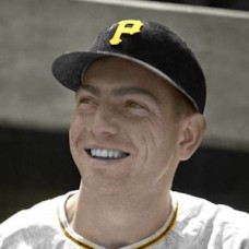 "Gair Allie - 1954 Pittsburgh Pirates 4""x6"" colorized print"