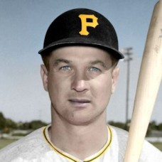 "Gene Hermanski - 1953 Pittsburgh Pirates 4""x6"" colorized print"
