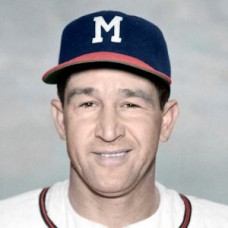"George Metkovich - 1954 Milwaukee Braves 4""x6"" colorized print"