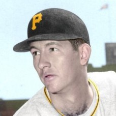 "George O'Donnell - 1954 Pittsburgh Pirates 4""x6"" colorized print"