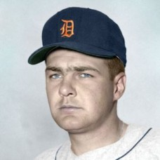 "Hal Woodeshick - 1956 Detroit Tigers 4""x6"" colorized print"