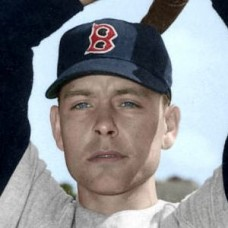 "Harley Hisner - 1951 Boston Red Sox 4""x6"" colorized print"