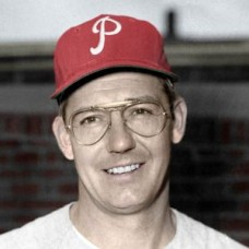 "Harry Hanebrink - 1959 Philadelphia Phillies 4""x6"" colorized print"