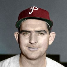 "Howie Fox - 1952 Philadelphia Phillies 4""x6"" colorized print"