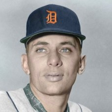 "Jack Dittmer - 1957 Detroit Tigers 4""x6"" colorized print"