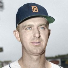 "Jack Phillips - c. 1955-57 Detroit Tigers 4""x6"" colorized print"