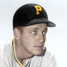 "Jake Thies - c. 1954-55 Pittsburgh Pirates 4""x6"" colorized print"