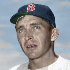 "James Atkins - 1950-52 Boston Red Sox 4""x6"" colorized print"