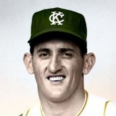 "Jesse Hickman - 1965 Kansas City Athletics 4""x6"" colorized print"