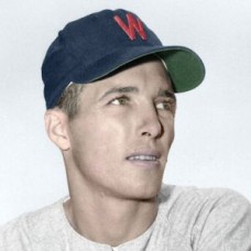 "Jim Busby - c. 1952-54 Washington Senators 4""x6"" colorized print"