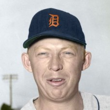 "Jim Finigan - 1957 Detroit Tigers 4""x6"" colorized print"