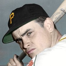 "Jim Mangan - 1952 Pittsburgh Pirates 4""x6"" colorized print"