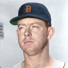 "Karl Olson - 1957 Detroit Tigers 4""x6"" colorized print"