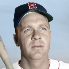 "Ken Wood - 1952 Boston Red Sox 4""x6"" colorized print"