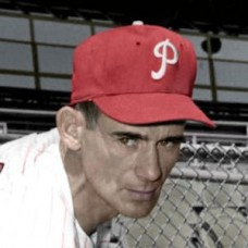 "Lynn Lovenguth - 1955 Philadelphia Phillies 4""x6"" colorized print"
