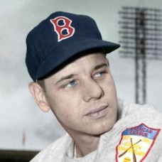 "Mel Hoderlein - 1951 Boston Red Sox 4""x6"" colorized print"