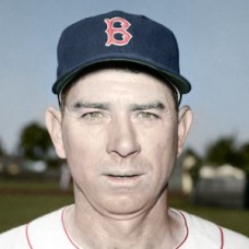 "Mickey Owen - 1954 Boston Red Sox 4""x6"" colorized print"