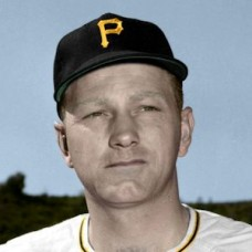 "Monty Basgall - 1951 Pittsburgh Pirates 4""x6"" colorized print"