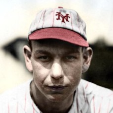 "Mul Holland - 1927 New York Giants 4""x6"" colorized print"