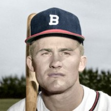 "Pete Whisenant - 1952 Boston Braves 4""x6"" colorized print"