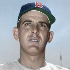 "Ralph Brickner - 1952 Boston Red Sox 4""x6"" colorized print"