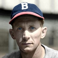 "Ray Berres - 1940 Boston Bees 4""x6"" colorized print"