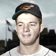 "Ron Moeller - 1956 Baltimore Orioles 4""x6"" colorized print"