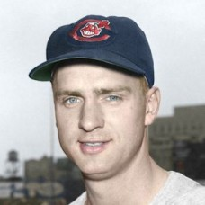 "Stu Locklin - c. 1955-56 Cleveland Indians 4""x6"" colorized print"