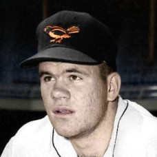 "Tex Nelson - 1957 Baltimore Orioles 4""x6"" colorized print"