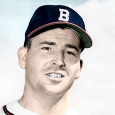 "Virgil Jester - 1952 Boston Braves 4""x6"" colorized print"