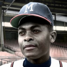 "Amado Samuel - 1962 Milwaukee Braves - 4""x6"" colorized print"