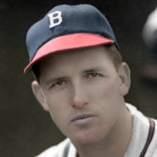 "Bill Voiselle - c. 1947-49 Boston Braves - 4""x6"" colorized print"