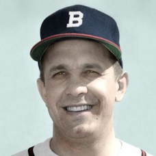 "Billy Reed - 1952 Boston Braves - 4""x6"" colorized print"
