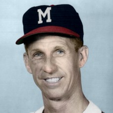 "Bob Keely - c. 1953-57 Milwaukee Braves - 4""x6"" colorized print"