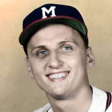 "Bobby Malkmus - 1957 Milwaukee Braves 4""x6"" colorized print"