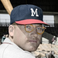 "Carl Sawatski - 1958 Milwaukee Braves - 4""x6"" colorized print"