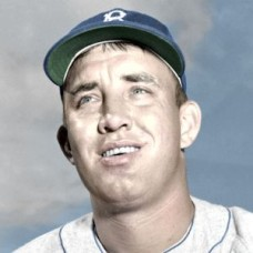 "Chris Van Cuyk - 1951 Brooklyn Dodgers 4""x6"" colorized print"