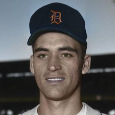 "Chuck Daniel - 1957 Detroit Tigers 4""x6"" colorized print"