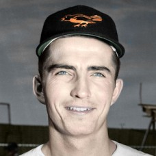 "Chuck Locke - 1955 Baltimore Orioles - 4""x6"" colorized print"