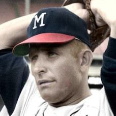 "Dave Eilers - 1965 Milwaukee Braves - 4""x6"" colorized print"