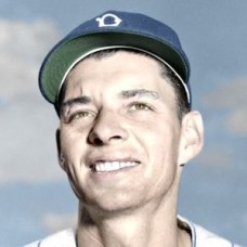 "Earl Mossor - 1951 Brooklyn Dodgers 4""x6"" colorized print"