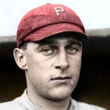 "Ed Burns - c. 1913-14 Philadelphia Phillies 4""x6"" colorized print"
