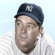 "Ernie Nevel - 1951 New York Yankees 4""x6"" colorized print"