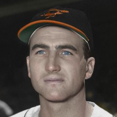 "Foster Castleman - 1958 Baltimore Orioles 4""x6"" colorized print"