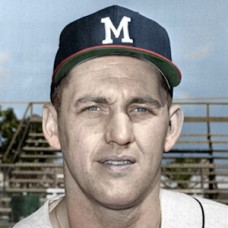 "Gene Oliver - 1964 Milwaukee Braves - 4""x6"" colorized print"