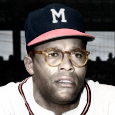 "George Crowe - 1955 Milwaukee Braves - 4""x6"" colorized print"
