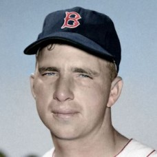 "Moose Morton - 1954 Boston Red Sox 4""x6"" colorized print"