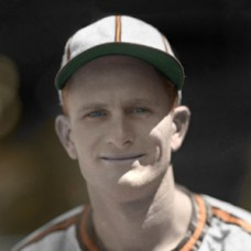 "Hal Epps - c. 1943-44 St. Louis Browns - 4""x6"" colorized print"