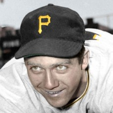 "Hank Schenz - 1951 Pittsburgh Pirates - 4""x6"" colorized print"